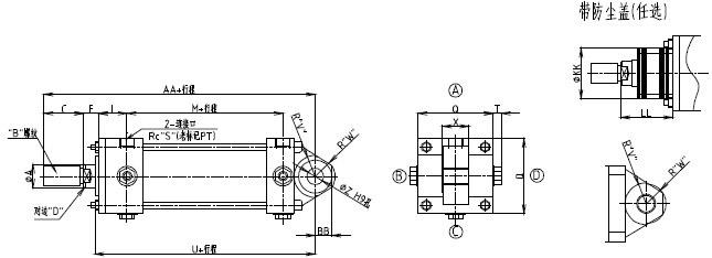 7/14mpa用cjt型标准液压缸图片